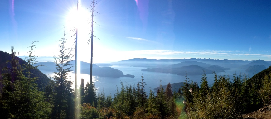 The view from Bowen Lookout at Cypress Mountain
